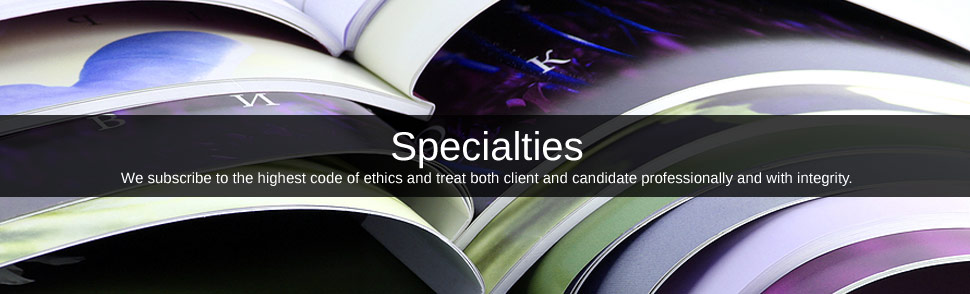 Graphic of showing the word Specialties